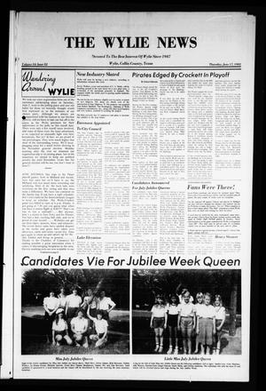 Primary view of object titled 'The Wylie News (Wylie, Tex.), Vol. 34, No. 52, Ed. 1 Thursday, June 17, 1982'.