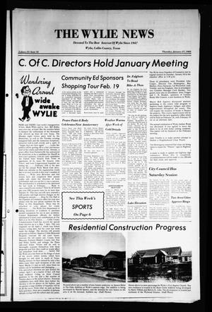 Primary view of object titled 'The Wylie News (Wylie, Tex.), Vol. 35, No. 32, Ed. 1 Thursday, January 27, 1983'.