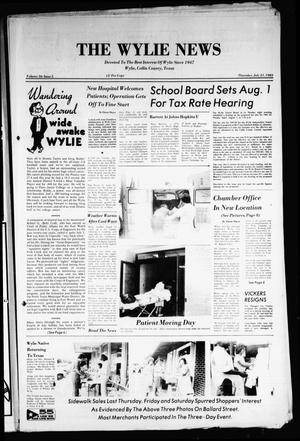 Primary view of object titled 'The Wylie News (Wylie, Tex.), Vol. 36, No. 5, Ed. 1 Thursday, July 21, 1983'.