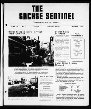 Primary view of object titled 'The Sachse Sentinel (Sachse, Tex.), Vol. 11, No. 11, Ed. 1 Saturday, November 1, 1986'.