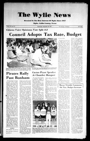 The Wylie News (Wylie, Tex.), Vol. 40, No. 16, Ed. 1 Wednesday, September 30, 1987