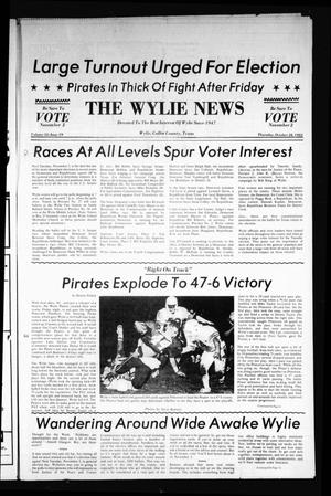 Primary view of object titled 'The Wylie News (Wylie, Tex.), Vol. 35, No. 19, Ed. 1 Thursday, October 28, 1982'.