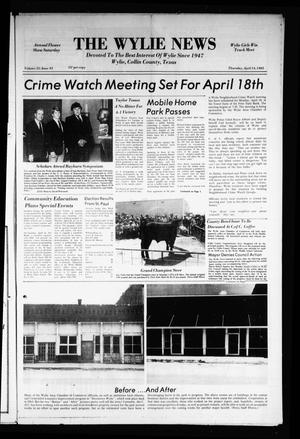 Primary view of object titled 'The Wylie News (Wylie, Tex.), Vol. 35, No. 43, Ed. 1 Thursday, April 14, 1983'.