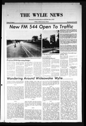 Primary view of object titled 'The Wylie News (Wylie, Tex.), Vol. 35, No. 6, Ed. 1 Thursday, July 29, 1982'.