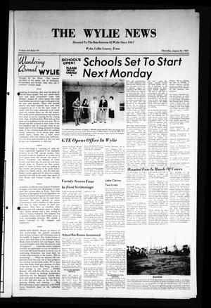 Primary view of object titled 'The Wylie News (Wylie, Tex.), Vol. 35, No. 10, Ed. 1 Thursday, August 26, 1982'.