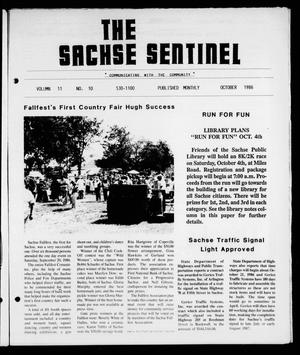 Primary view of object titled 'The Sachse Sentinel (Sachse, Tex.), Vol. 11, No. 10, Ed. 1 Wednesday, October 1, 1986'.