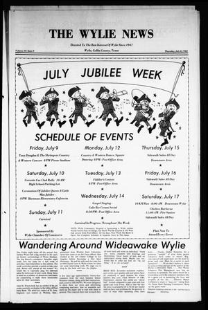 Primary view of object titled 'The Wylie News (Wylie, Tex.), Vol. 35, No. 3, Ed. 1 Thursday, July 8, 1982'.