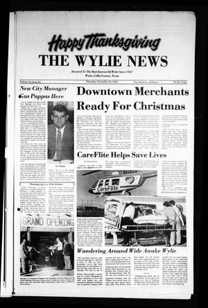 Primary view of object titled 'The Wylie News (Wylie, Tex.), Vol. 36, No. 23, Ed. 1 Thursday, November 24, 1983'.