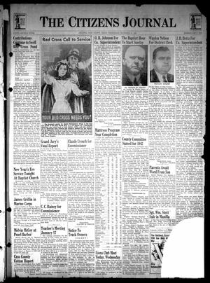 Primary view of The Citizens Journal (Atlanta, Tex.), Vol. 62, No. 52, Ed. 1 Wednesday, December 31, 1941