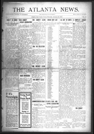 The Atlanta News. (Atlanta, Tex.), Vol. 10, No. 23, Ed. 1 Thursday, January 20, 1910