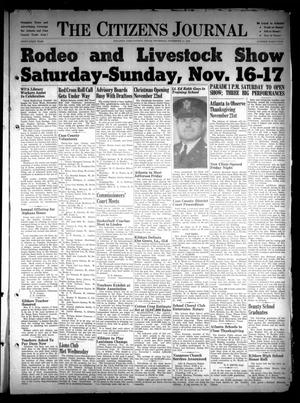 Primary view of object titled 'The Citizens Journal (Atlanta, Tex.), Vol. 61, No. 45, Ed. 1 Thursday, November 14, 1940'.