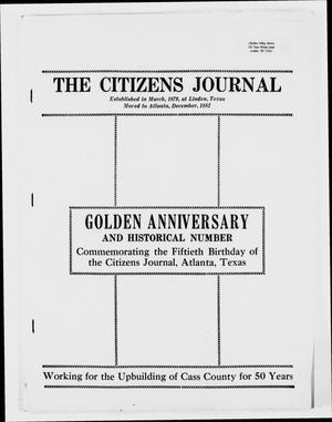 Primary view of object titled 'The Citizens Journal (Atlanta, Tex.), Ed. 1 Tuesday, December 31, 1929'.