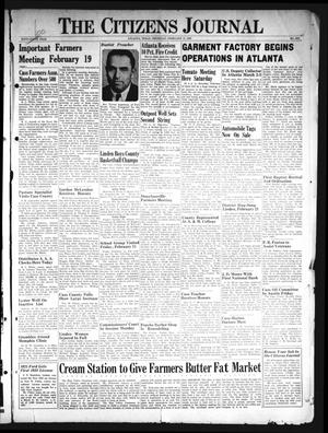 The Citizens Journal (Atlanta, Tex.), Vol. 59, No. 6, Ed. 1 Thursday, February 17, 1938