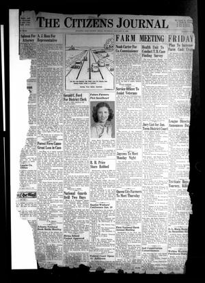 Primary view of object titled 'The Citizens Journal (Atlanta, Tex.), Vol. [61], No. 1, Ed. 1 Thursday, January 11, 1940'.