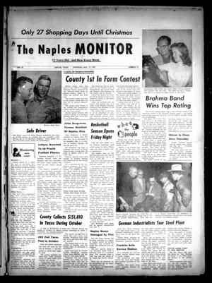 Primary view of object titled 'The Naples Monitor (Naples, Tex.), Vol. 72, No. 17, Ed. 1 Thursday, November 21, 1957'.