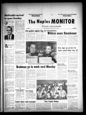 Primary view of object titled 'The Naples Monitor (Naples, Tex.), Vol. 78, No. 4, Ed. 1 Thursday, August 15, 1963'.