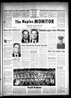 Primary view of object titled 'The Naples Monitor (Naples, Tex.), Vol. 79, No. 6, Ed. 1 Thursday, August 27, 1964'.