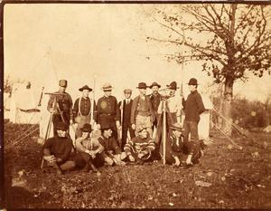 Primary view of object titled 'Railroad Survey Crew Poses for a Photo, c. 1902'.