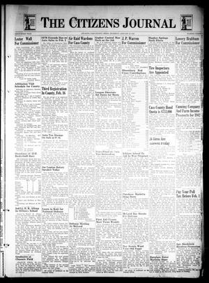 Primary view of object titled 'The Citizens Journal (Atlanta, Tex.), Vol. 63, No. 3, Ed. 1 Thursday, January 22, 1942'.