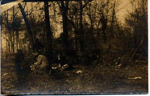 Primary view of object titled 'Railroad Survey Crew Pausing to Eat, c. 1902'.