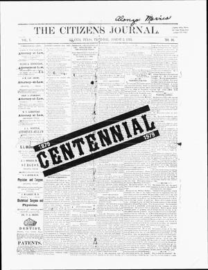 Primary view of object titled 'The Citizens Journal (Atlanta, Tex.), Ed. 1 Thursday, March 29, 1979'.
