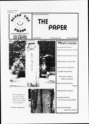 Primary view of object titled 'The Paper. (Linden, Tex.), Vol. 1, No. 38, Ed. 1 Wednesday, June 30, 1976'.