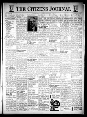 Primary view of The Citizens Journal (Atlanta, Tex.), Vol. 63, No. 33, Ed. 1 Thursday, August 20, 1942