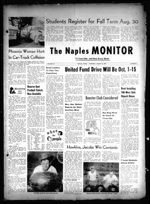 Primary view of The Naples Monitor (Naples, Tex.), Vol. 72, No. 2, Ed. 1 Thursday, August 8, 1957
