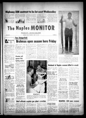 Primary view of object titled 'The Naples Monitor (Naples, Tex.), Vol. 78, No. 8, Ed. 1 Thursday, September 12, 1963'.