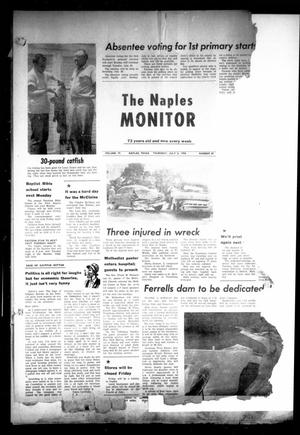 Primary view of object titled 'The Naples Monitor (Naples, Tex.), Vol. 72, No. 49, Ed. 1 Thursday, July 3, 1958'.