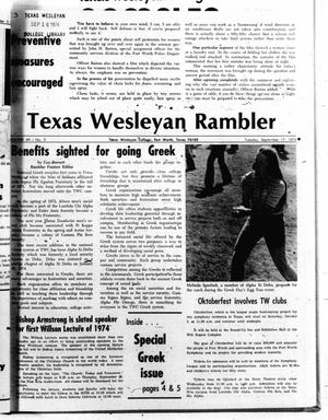 Primary view of object titled 'The Rambler (Fort Worth, Tex.), Vol. 49, No. 3, Ed. 1 Tuesday, September 17, 1974'.