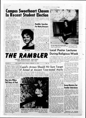 Primary view of object titled 'The Rambler (Fort Worth, Tex.), Vol. 35, No. 16, Ed. 1 Tuesday, February 12, 1963'.