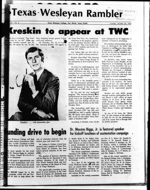 The Rambler (Fort Worth, Tex.), Vol. 47, No. 8, Ed. 1 Tuesday, October 22, 1974