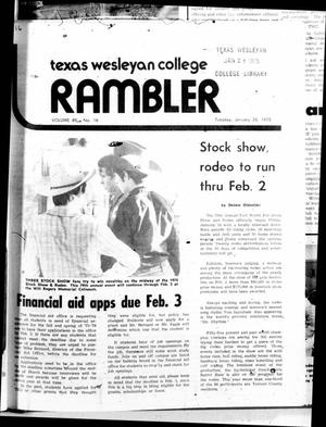 Primary view of object titled 'The Rambler (Fort Worth, Tex.), Vol. 49, No. 16, Ed. 1 Tuesday, January 28, 1975'.