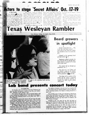 Primary view of object titled 'The Rambler (Fort Worth, Tex.), Vol. 49, No. 6, Ed. 1 Tuesday, October 8, 1974'.