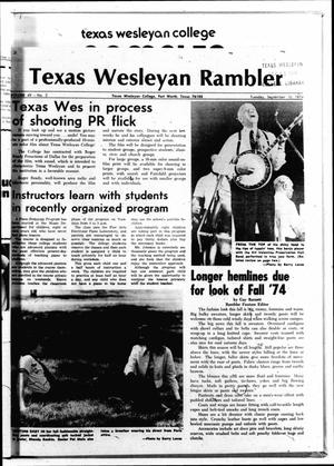 Primary view of object titled 'The Rambler (Fort Worth, Tex.), Vol. 49, No. 2, Ed. 1 Tuesday, September 10, 1974'.