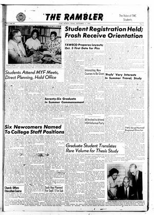 The Rambler (Fort Worth, Tex.), Vol. 28, No. 1, Ed. 1 Tuesday, September 13, 1955