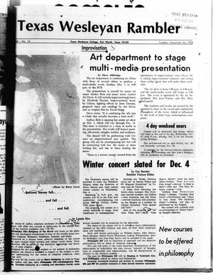Primary view of object titled 'The Rambler (Fort Worth, Tex.), Vol. 49, No. 12, Ed. 1 Tuesday, November 26, 1974'.