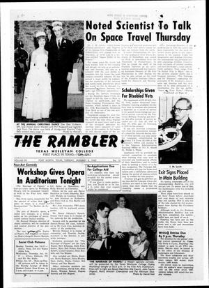 Primary view of object titled 'The Rambler (Fort Worth, Tex.), Vol. 35, No. 12, Ed. 1 Tuesday, January 8, 1963'.