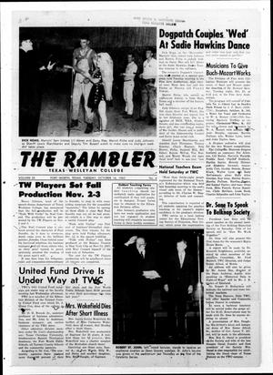 Primary view of object titled 'The Rambler (Fort Worth, Tex.), Vol. 35, No. 4, Ed. 1 Tuesday, October 16, 1962'.