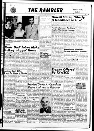 The Rambler (Fort Worth, Tex.), Vol. 28, No. 3, Ed. 1 Tuesday, September 27, 1955