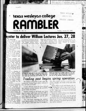 Primary view of object titled 'The Rambler (Fort Worth, Tex.), Vol. 49, No. 15, Ed. 1 Tuesday, January 21, 1975'.