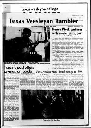 Primary view of object titled 'The Rambler (Fort Worth, Tex.), Vol. 49, No. 1, Ed. 1 Wednesday, September 4, 1974'.