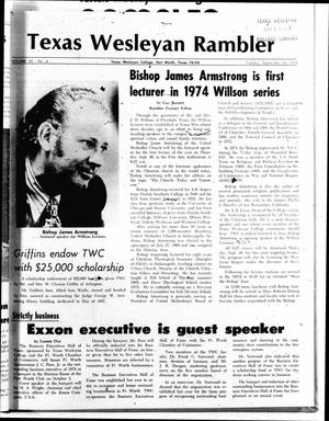 Primary view of object titled 'The Rambler (Fort Worth, Tex.), Vol. 49, No. 4, Ed. 1 Tuesday, September 24, 1974'.