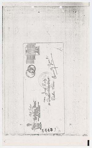 Primary view of object titled '[Letters Sent to Jack Ruby at Dallas County Jail]'.