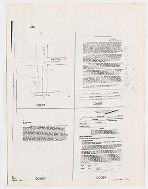 Primary view of object titled '[Information report of documents from the Warren Commission]'.