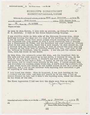 Primary view of object titled '[Voluntary Statement by Jean Newman #2]'.