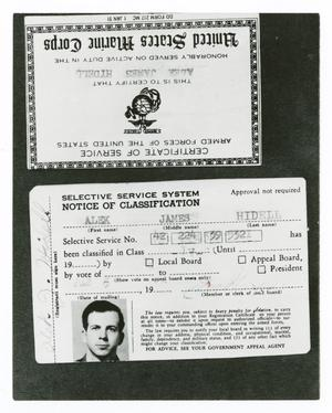 Primary view of object titled '[Alek Hidell ID Cards]'.