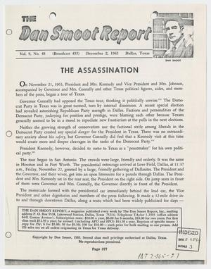 Primary view of object titled '[The Dan Smoot Report, Volume 9, December 1963 #1]'.