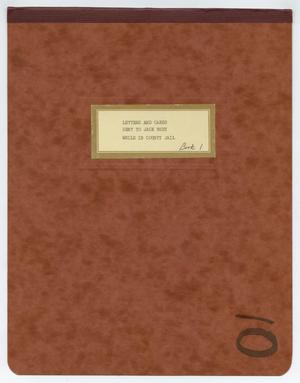 Primary view of object titled '[Letters Sent to Jack Ruby in County Jail]'.